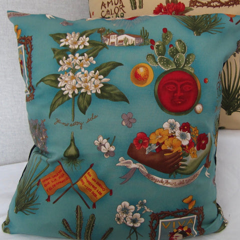 Frida cushion cover (green)