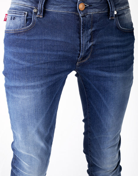 Leonardo Slim Jean - 2 Year Blue 24.7 Stretch Comfort Denim