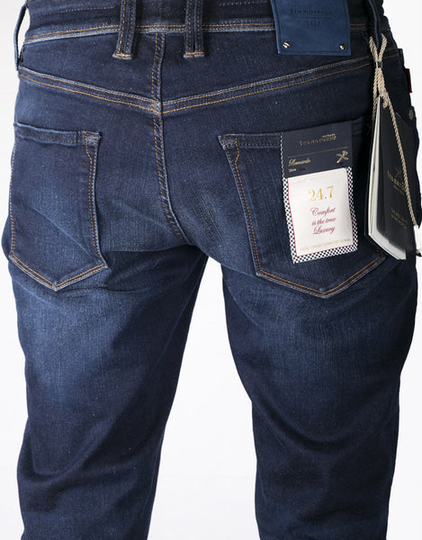Leonardo Slim Jean - 6 Month Blue 24.7 Stretch Comfort Denim