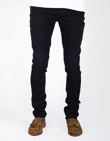 Leonardo Slim Jean - 1 Moon Black 24.7 Stretch Comfort Denim