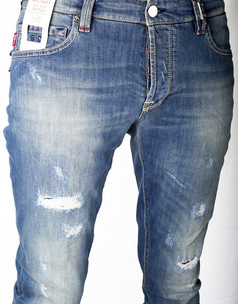 Leonardo Jean - 12 Month Scuro Rip-and-Repair Distressed Denim