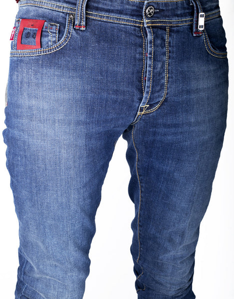 Leonardo Jean - 12 Month Deep Bolt Blue Denim