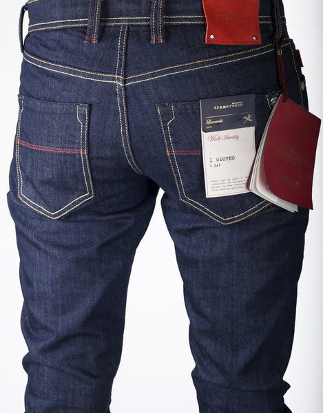 Leonardo Jean - 1 Day Dark Hogan Coated Denim