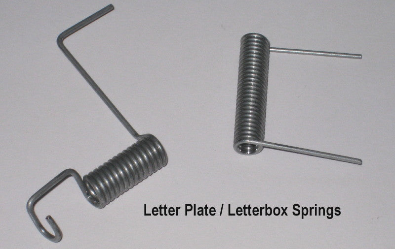2 types of Letter Plate or Letterbox Springs