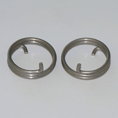 Door Handle Spring 2.5 Turn 1.8mm Round Wire Side View