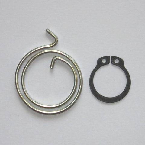 2-Turn Door Handle Springs plus Circlips, 2.5mm thick
