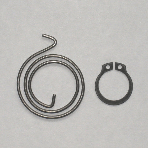 2+1/2 Turn Door Handle Springs plus Circlips, 2mm thick, 30mm Diameter