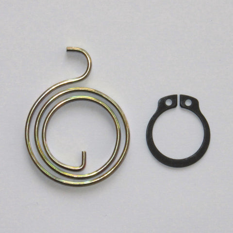 2+1/2 Turn Door Handle Springs plus Circlips, 3mm thick