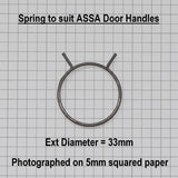 ASSA Door Handle Spring Dimensions