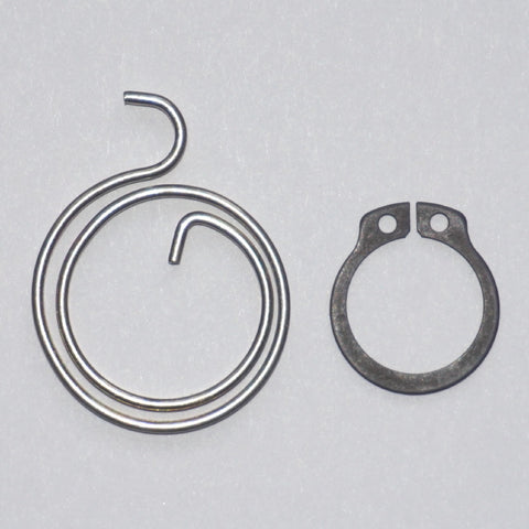 2-Turn Door Handle Springs plus Circlips, 2mm thick (Available in packs of 4, 6 and 10)