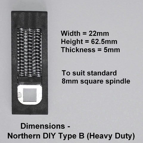 UPVC Door Handle Spring Cassette - Northern DIY Type B (Heavy Duty)
