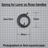 Dimensions - Springs for Howdens / Bertelli Lever-On-Rose Door Handles