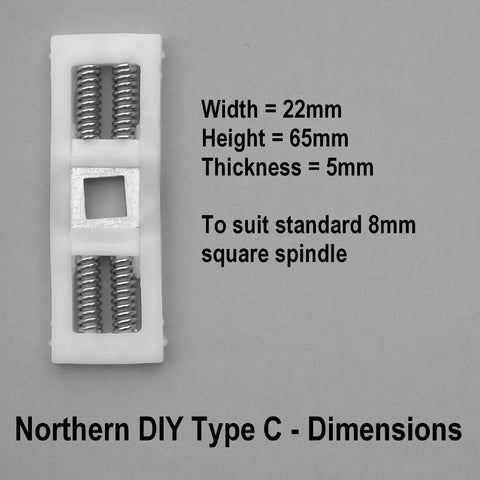 UPVC Door Handle Spring Cassette Type C