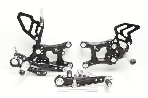 Rear Set Yamaha R6, 2017 - 2020, with revers shifting, FULL RACE VERSION