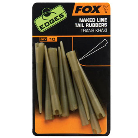 Fox Edges Naked Line Tail Rubbers And Sleeves