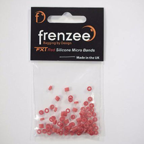 Frenzee Silicone Micro Bait Bands Red General Accessories