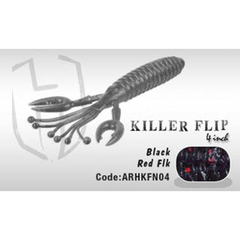 Herakles Killer Flip 4 Black Red Flk Soft Baits