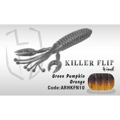 Herakles Killer Flip 4 Green Pumpkin Orange Soft Baits