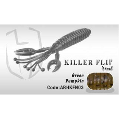 Herakles Killer Flip 4 Green Pumpkin Soft Baits