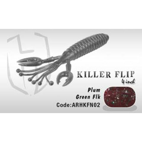 Herakles Killer Flip 4 Plum Green Flk Soft Baits