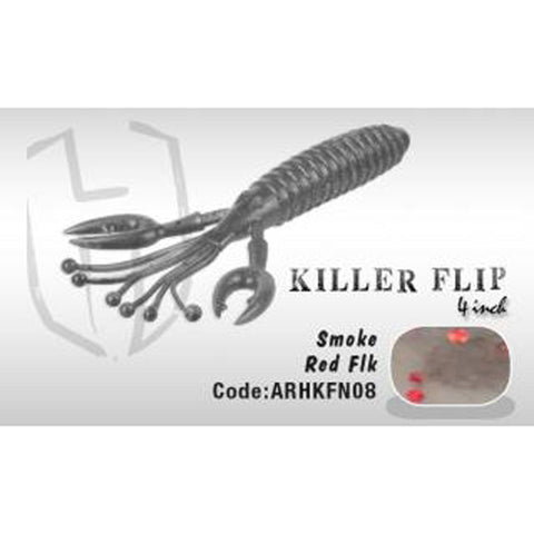 Herakles Killer Flip 4 Smoke Red Flk Soft Baits