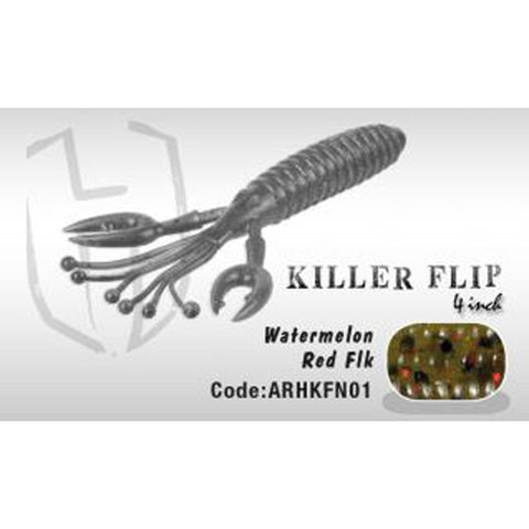 Herakles Killer Flip 4 Watermelon Red Flk Soft Baits