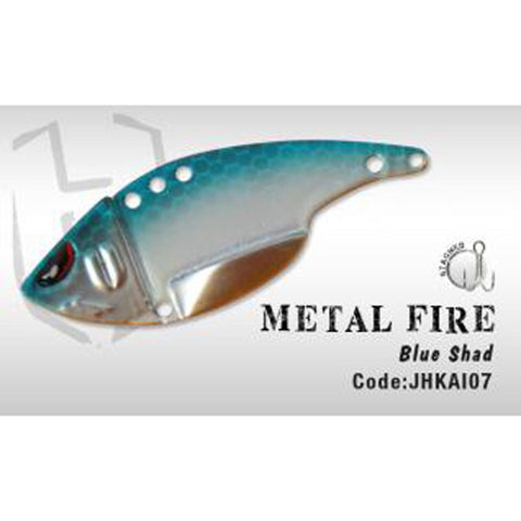 Herakles Metal Fire Blade Bait Blue Shad Spinners