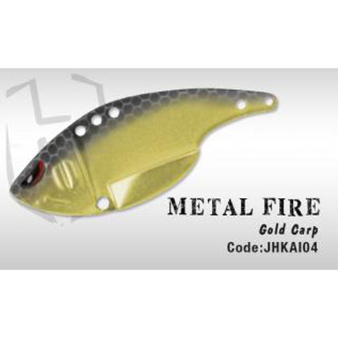 Herakles Metal Fire Blade Bait Gold Carp Spinners