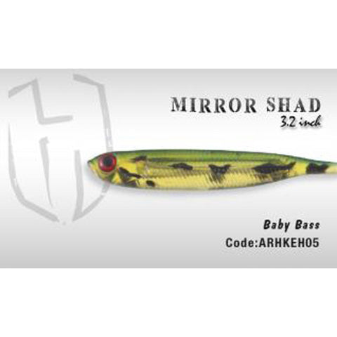 Herakles Mirror Shad 3.2 Inches / Baby Bass Dropshot Lures
