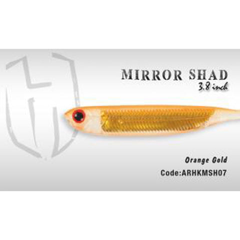Herakles Mirror Shad 3.8 Inches / Orange Gold Dropshot Lures