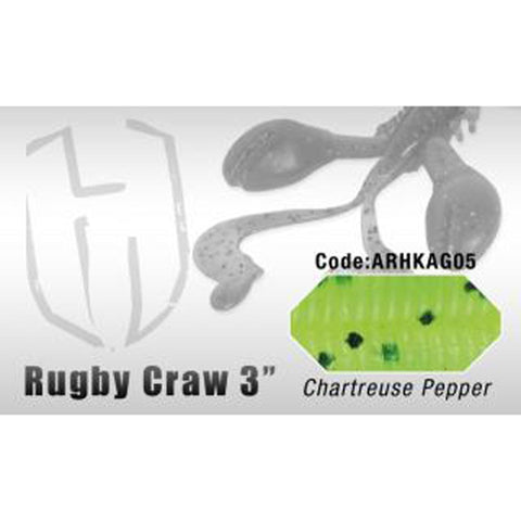 Herakles Rugby Craw 3 Inch / Chartreuse Pepper Dropshot Lures
