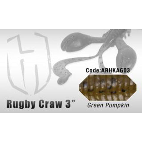 Herakles Rugby Craw 3 Inch / Green Pumpkin Dropshot Lures