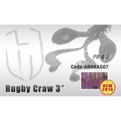 Herakles Rugby Craw 3 Inch / Pb & J Dropshot Lures