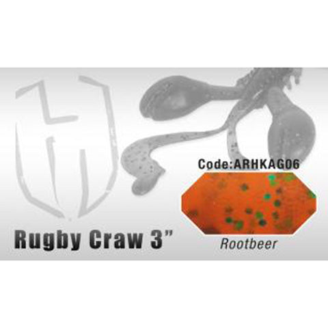 Herakles Rugby Craw 3 Inch / Rootbeer Dropshot Lures