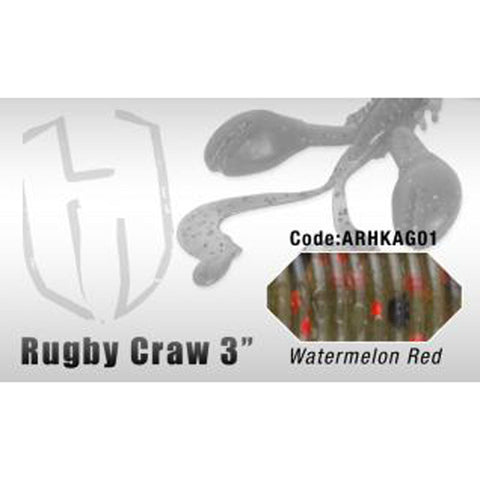 Herakles Rugby Craw 3 Inch / Watermelon Red Dropshot Lures