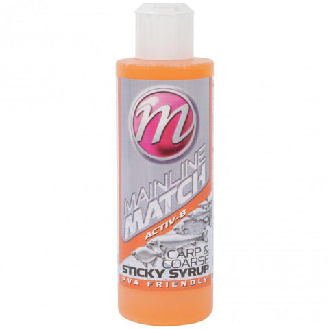 Mainline Match Carp & Coarse Sticky Syrups 250Ml Activ-8 Flavourings