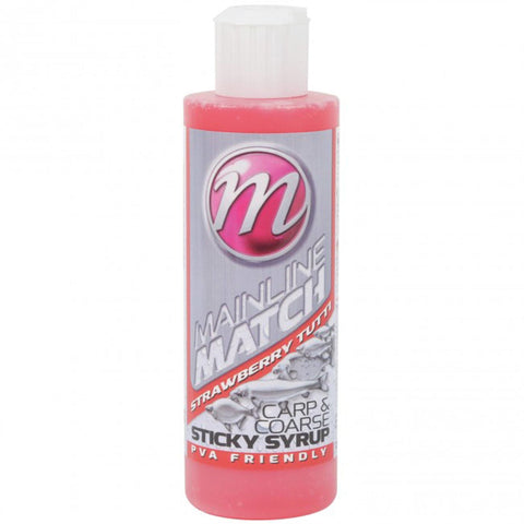 Mainline Match Carp & Coarse Sticky Syrups 250Ml Strawberry Tutti Flavourings