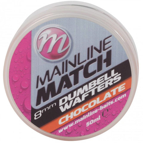Mainline Match Dumbell Wafters Orange Chocolate Pellets & Boilies