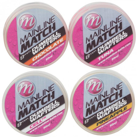 Mainline Match Dumbell Wafters Pellets & Boilies