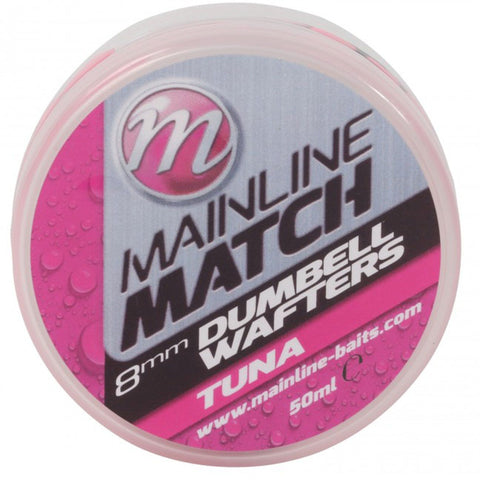 Mainline Match Dumbell Wafters Pink Tuna Pellets & Boilies