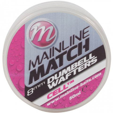 Mainline Match Dumbell Wafters White Cell Pellets & Boilies