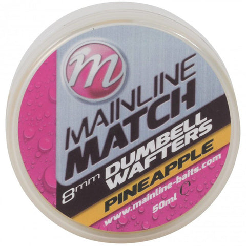 Mainline Match Dumbell Wafters Yellow Pineapple Pellets & Boilies