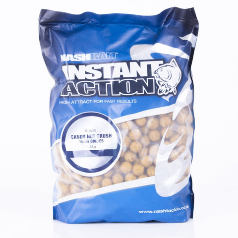 Nash Instant Action Boilies Candy Nut Crush 1Kg Carp