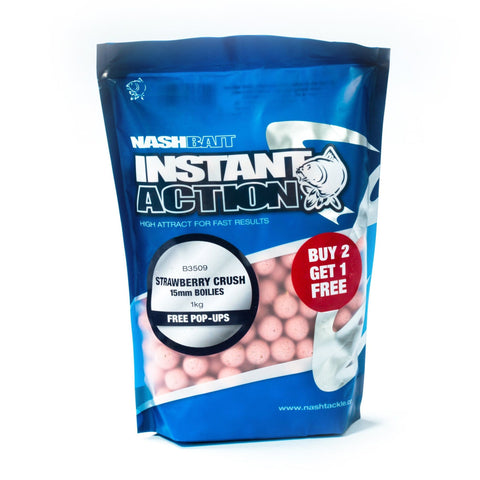 Nash Instant Action Boilies Strawberry Crush 1Kg Carp