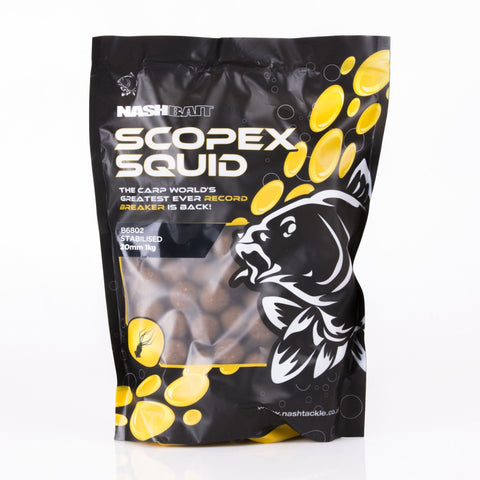 Nash Scopex Squid Stabilised Boilies 20Mm Carp