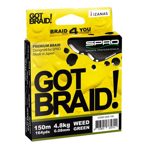 Spro Got Braid! Green / 0.08Mm Predator Braid