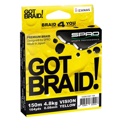 Spro Got Braid! Yellow / 0.08Mm Predator Braid