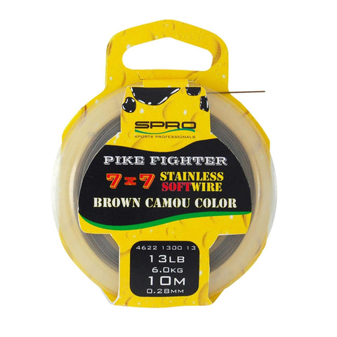 Spro Pike Fighter 7X7 Brown Soft Wire Trace & Crimps