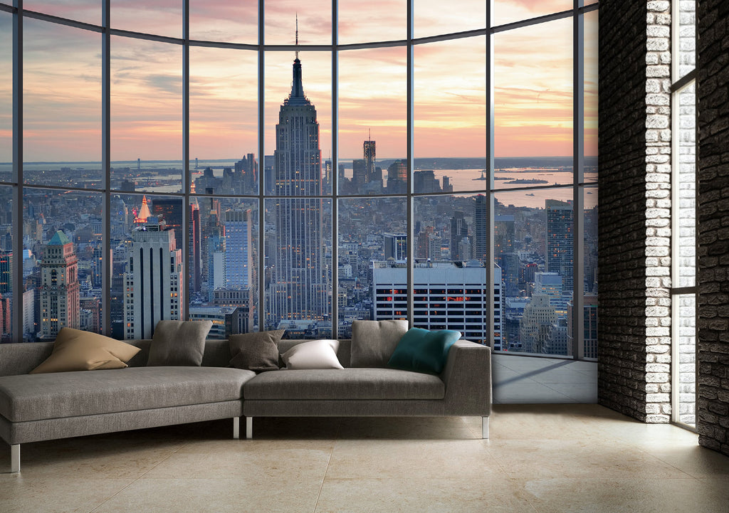 new york skyline 018 non woven 1wall murals. Black Bedroom Furniture Sets. Home Design Ideas