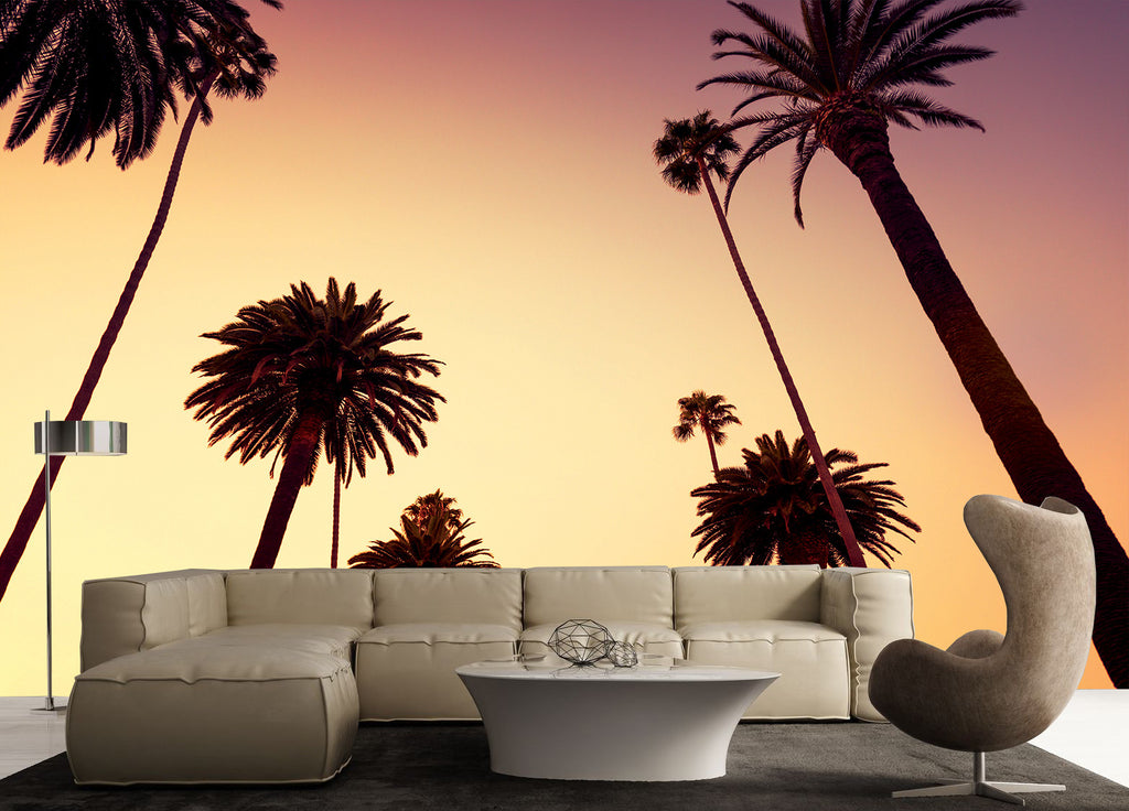 CALIFORNIA PALM TREE WALL MURAL